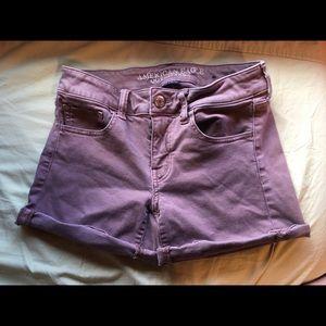 Purple American Eagle Midi Shorts